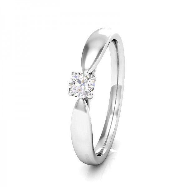 Klassiche Ringform, veredelt mit einem Diamanten in 4 Krappenfassung. #love #forever #forever #luck #diamond #beautiful