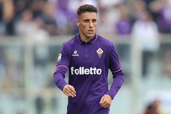 Cristian Tello of ACF Fiorentina in action during the Serie A match between ACF Fiorentina and Empoli FC at Stadio Artemio Franchi on April 15, 2017 in Florence, Italy.