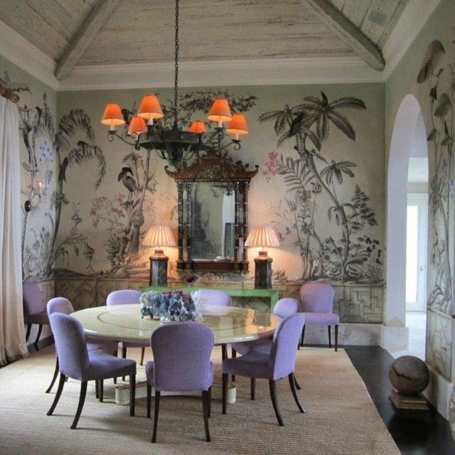 Tropical Fantasy Painted By Bob Christian In Dining Roompaintedfinishes Paintedwalls