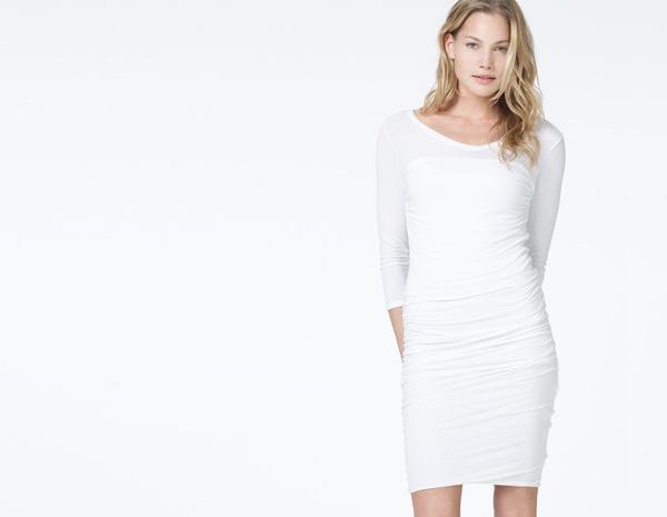 James Perse Soft V Multi Layer T Shirt Dress