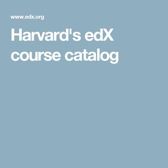 Harvard's edX course catalog