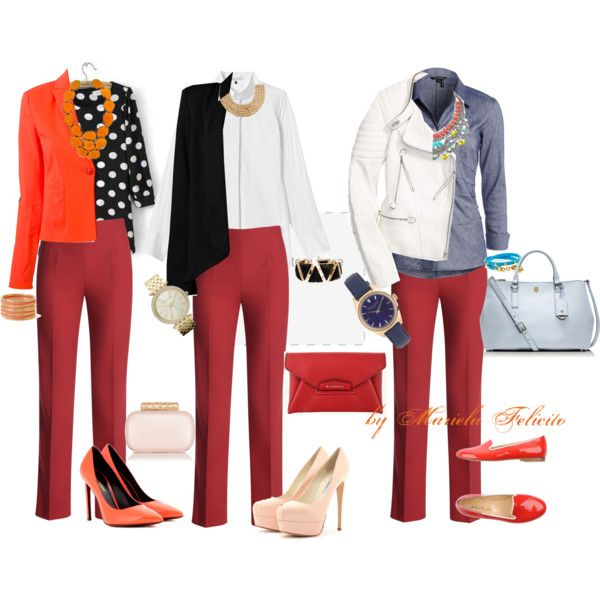 PANTALON ROJO | Moda | Pinterest | Fashion Clothes Formal And Moda