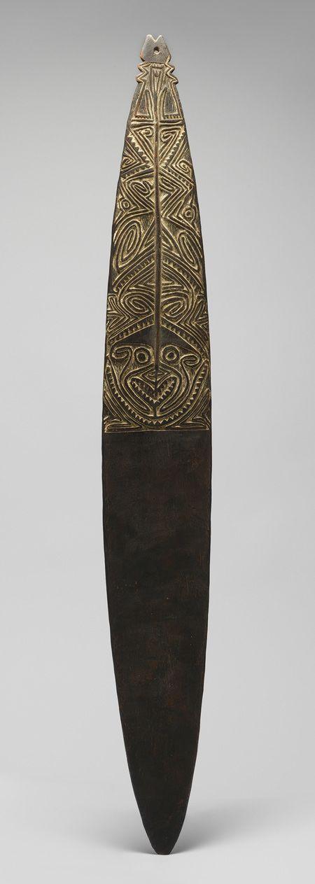 Bullroarer (Upura or Imunu Viki), late 19th–early 20th century. Papua New Guinea, Papuan Gulf, Purari Delta region