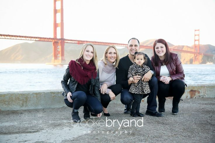 Brooke Bryand Photography | San Francisco Family Photographer | Golden Gate Bridge | Fog city | Crissy Field | Marina district |  Family portrait | Teenage girls and toddler | Amazing view | Parents and kids |