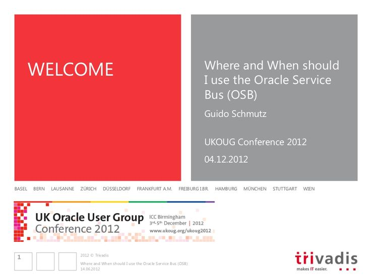 Where and when to use the Oracle Service Bus (OSB) by Guido Schmutz via slideshare