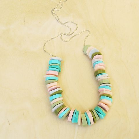 hand cut silicone bead neacklace