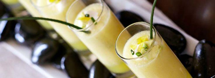 Pineapple Gazpacho Shots