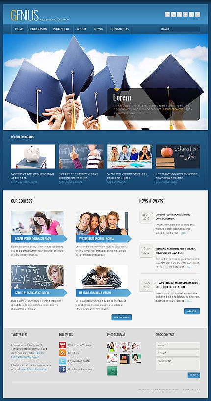 Genius University WordPress Themes by Oldman