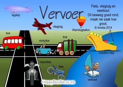 Home School: Grade R - Week 19 - Vervoer / Transport - Happy Doo-Da