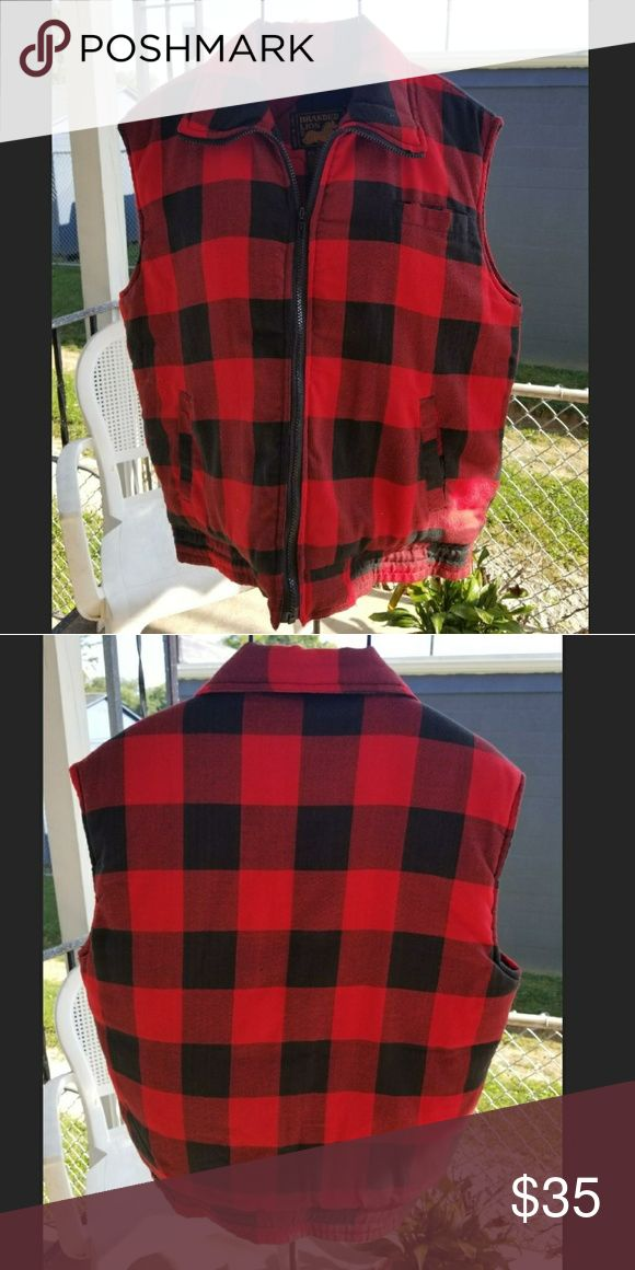 Branded Lion Size Medium Vest Red & Black Branded Lion Size Medium Vest Red & Black checkered print. Looks great on. Gently Used Condition. Has Four Pockets Branded Lion Jackets & Coats Vests