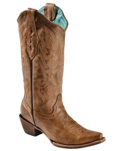 Corral Vintage Tan Cowhide Women's Cowgirl Boots - HeadWest Outfitters