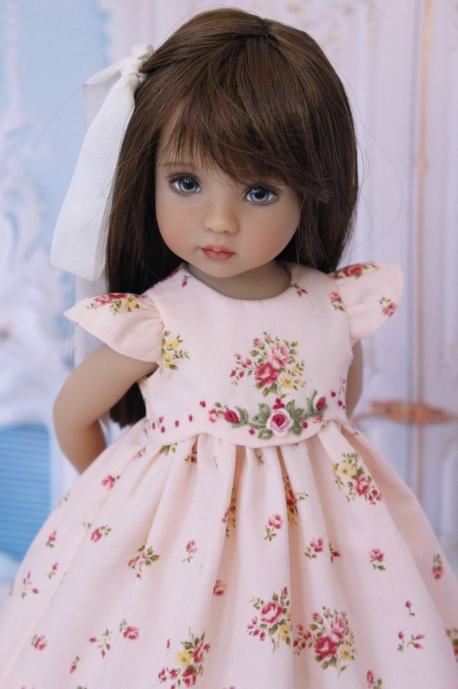 "Smocked Ensemble for Effner 13"" Little Darling by Doll Heirloom Designs #DollHeirloomDesigns"