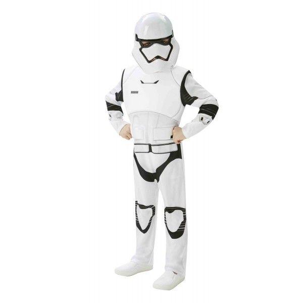 DisfracesMimo, disfraz de stormtrooper star wars episodio 7 deluxe niño varias tallas.Star Wars Episodio VII: El Despertar de la Fuerza será la séptima película de la saga Star Wars, se estrenará en diciembre de 2015 y que contará con un elenco de lujo de la trilogía original (Luke Skywalker, Han Solo, Leia Organa, Chewbacca, entre otros) y 3 nuevos y jóvenes protagonistas, que se verán inmersos en una época difícil 30 años después del fin del Imperio Galáctico en el Episodio VI: El Retorno…