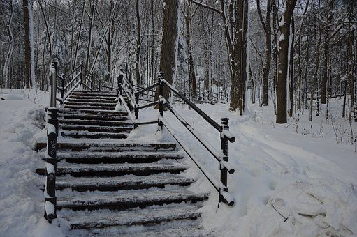Hiver, Montréal, Mont-Royal, Glace