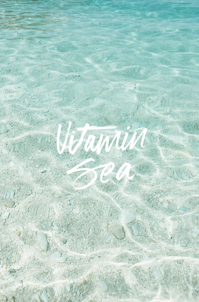 More vitamin sea, please.