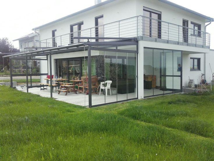 Terrassendach mit Glas-Schiebe-Elemente  www.scaffidi.de