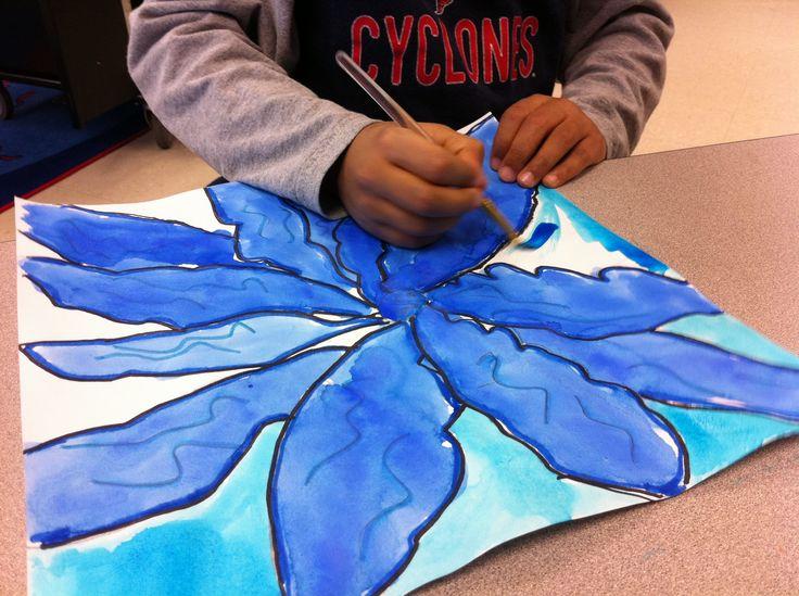 Teaching Georgia O'Keefe to kidsFlower Art Projects For Kids, Georgia O' Keeffe, Art Lessons, O' Keef Flower, Lessons Plans, Art Ideas, Flower Fell, Drawing Big, 2Nd Grade