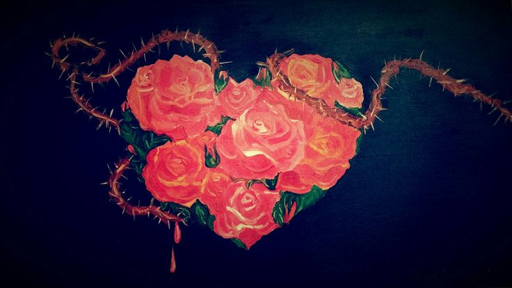 """""""There's no rose without thorns"""" oil painting on canvas ~ #loveseries"""