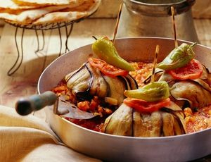 Tender Lamb Wrapped In Eggplant: 'İslim kebabı;' sometimes called 'toothpick kebab,' is a classic Turkish recipe of tender lamb wrapped in strips of eggplant that's baked to perfection.