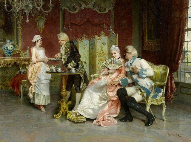 Interior with fine company by Arturo Ricci