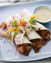 """Shrimp Tacos with Pickled-Red-Onion Salad 