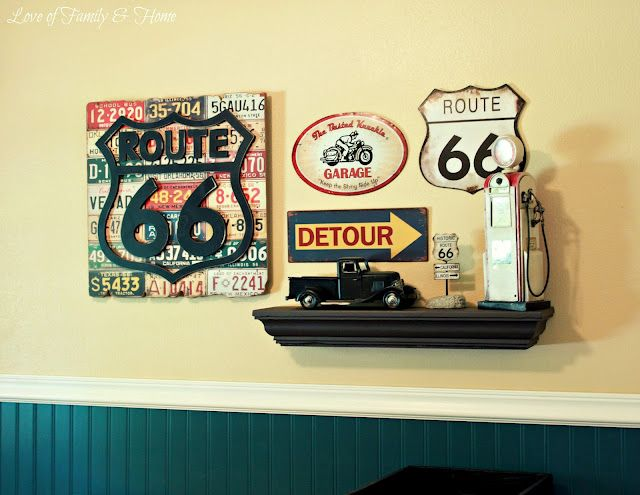 7 best ROUTE 66 images on Pinterest | Bar, Boy nurseries and Boy rooms