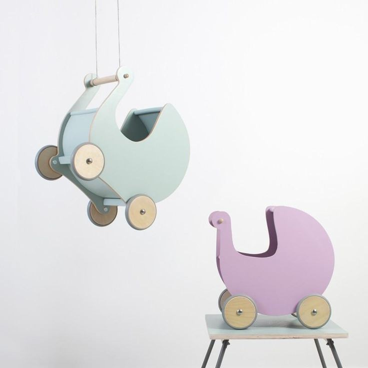 Sebra Wooden Dolls Pram - Mini Me Ltd