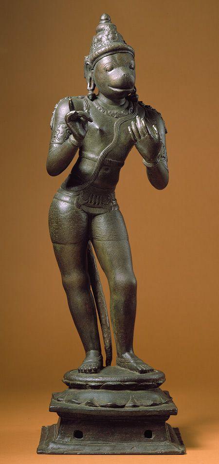 Standing Hanuman, Chola period (ca. 11th century Tamil Nadu, India. The Met