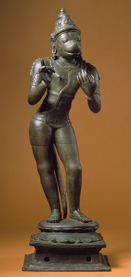 Standing Hanuman, Chola period (ca. 860–1279), 11th century  Tamil Nadu, India | The Metropolitan Museum of Art