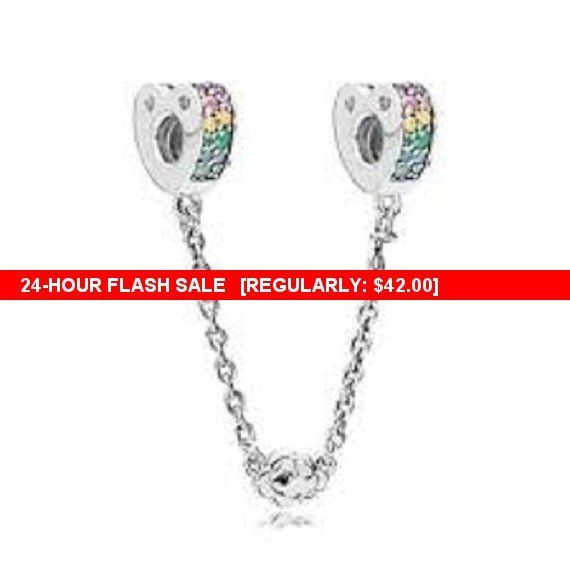 8bf94f820 Pandora Charms Multi-color Arcs of Love Safety #supplies @EtsyMktgTool  #rainbowsafetychain #pandorasafetychain #pandoracharm #pandoracharms