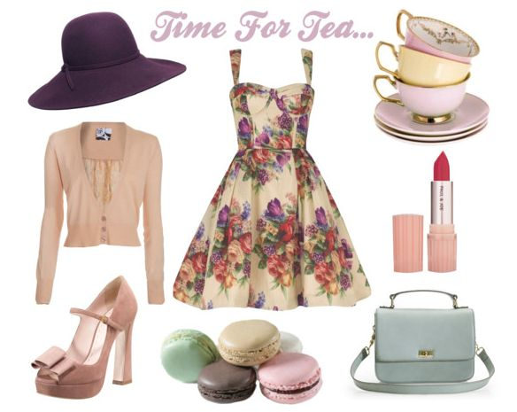 What does one wear to a tea party?  A floral tea dress of course! Paired with a floppy hat, suede mary jane peep toes and a vintage, baby blue bag…ensure guests get into the spirit too with a dress code of pretty hats, fascinators and dainty gloves.
