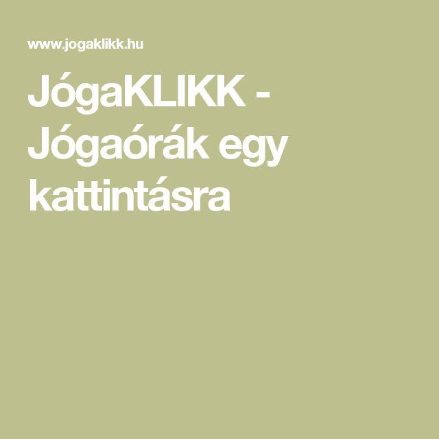 JógaKLIKK - Jógaórák egy kattintásra