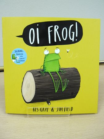 """Our Book of the Week is """"Oi Frog!"""" Available at our National Centre for £6.99 or you"""