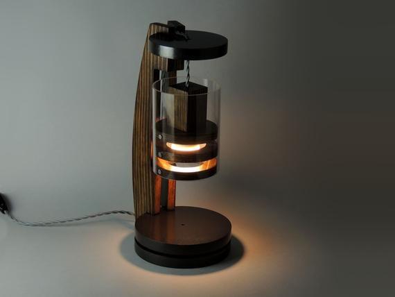 Desk Lamp Lp 4 F Table Lamp Steampunk Lamp Wooden Lamp Edison Lamp Unique Lamp Industrial Lamp Modern Lamp Minimalistic Lamp Ahsap Isciligi