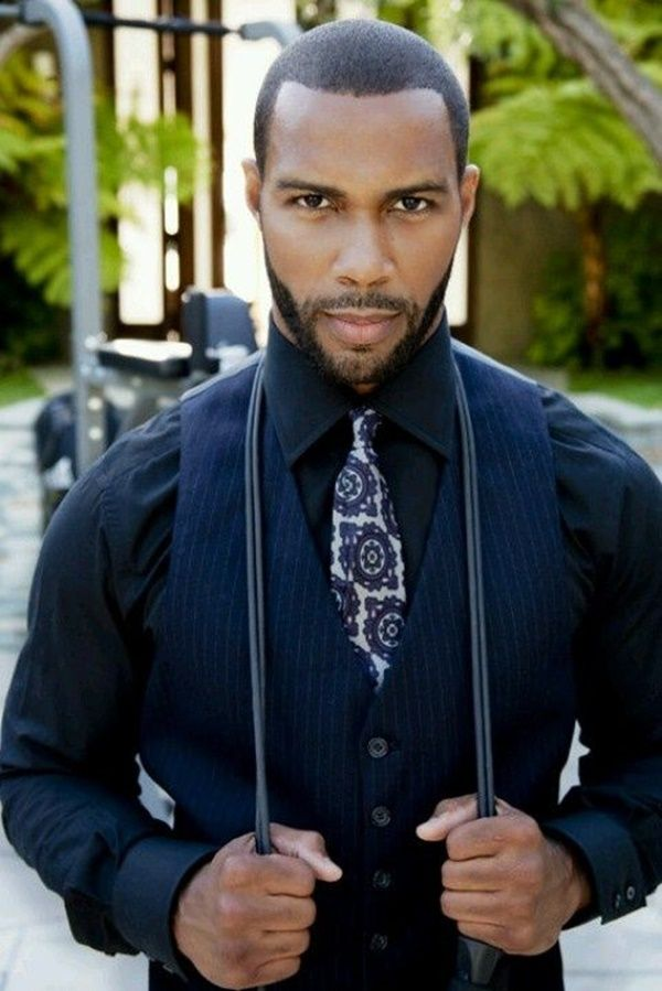 The full Beard.  Latest 50 Hot Black Men Beard Styles to try this year. Omari Hardwick.