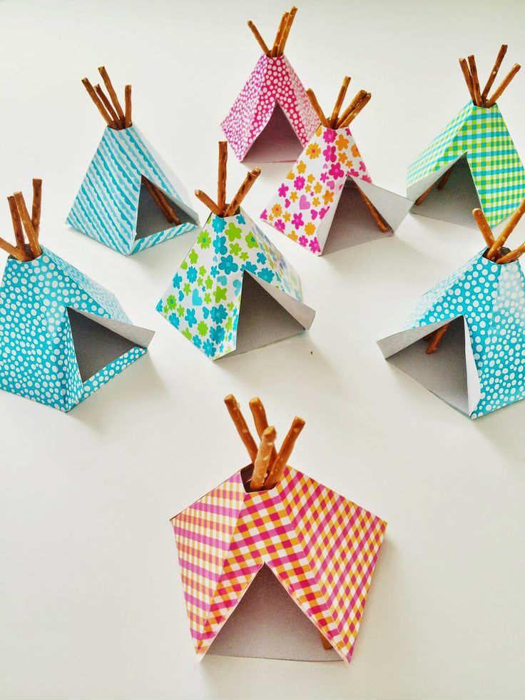 Tipi tent treat   10 Pretzel DIY's - Tinyme Blog