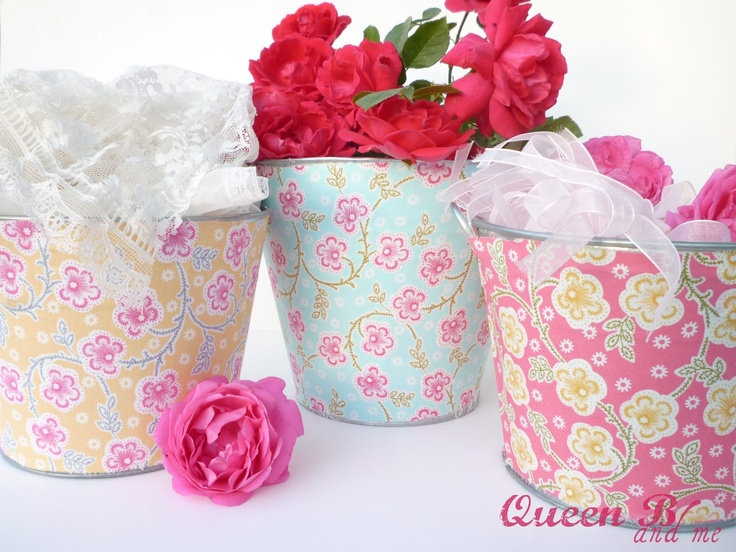 Queen B and Me: Tin Buckets {Makeover}  Video Tutorial with IKEA bucket