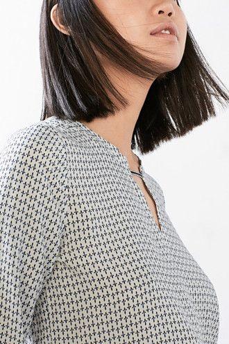 EDC / Zart fließende Bluse mit Print