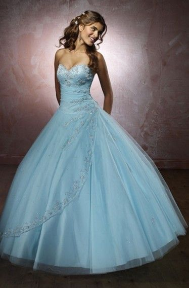 Diamond Blue Wedding Dress  #cinderella #blue #pretty
