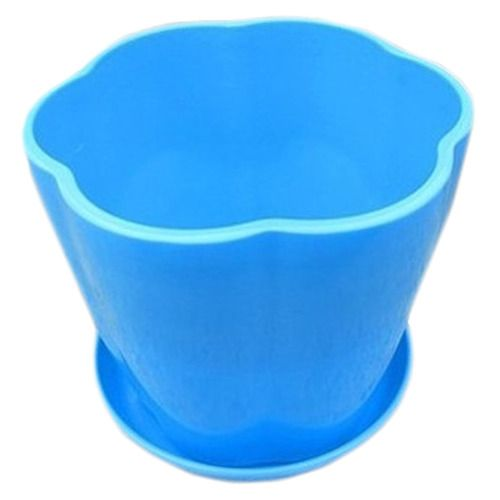Take The Tray Faceplate Plastic Grass In 7 Colour Green Flowerpot(Blue)