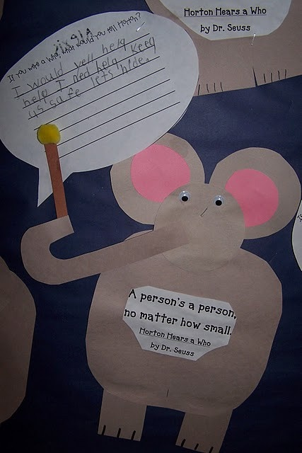 horton hears a who essay Horton hears a who essay horton's journey be who you are and say what you feel, because those who mind don't matter and those who matter don't mind-dr seuss this quote really relates to this story called horton hatches the egg.