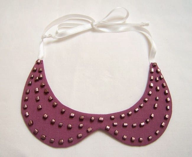 DIY Collar Necklace tutorial with pattern included