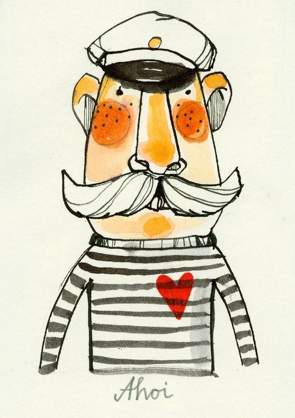 Maybe not beautiful, per se, but definitely charming. Sailors by Ekaterina Koroleva, via Behance