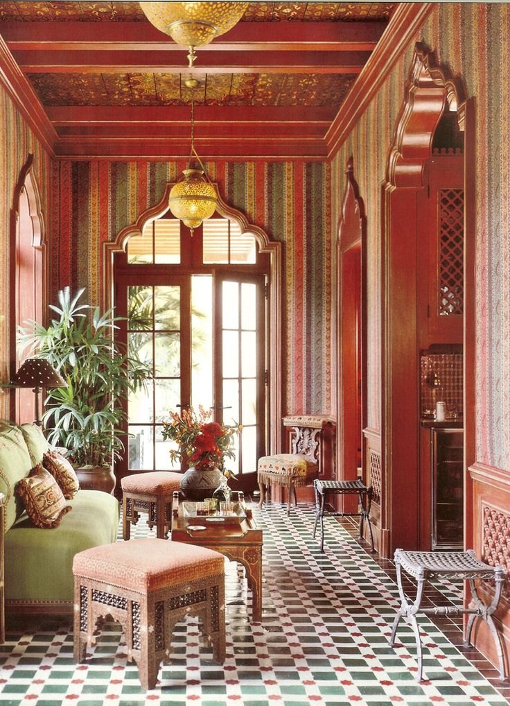 Nice Inspiring Moroccan Living Room Designs : Appealing Moroccan Living Room  With Traditional Wooden Chair And Beautiful