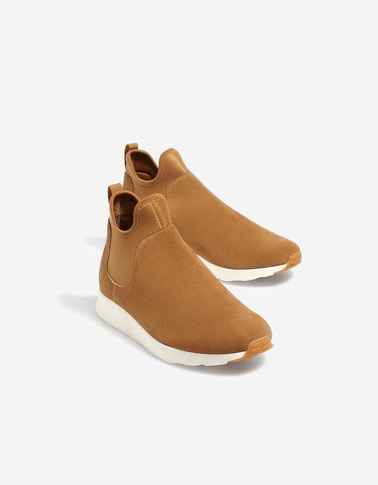 LEATHER chelsea sneakers - Sneakers | Stradivarius Greek - Winter Sale