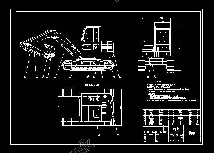 La Asamblea De Excavadora De Dibujo Excavadoras Vector Asamblea