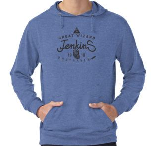 Lightweight Hoodie @bembureda on @redbubble #hoodies #jenkins #wizard #howl #ghibli #giftoriginal #christmas #stars #triangle #witch #prettynice #porthaven #war
