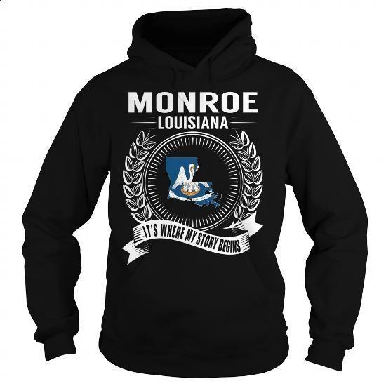Monroe, Louisiana - Its Where My Story Begins - #womens #mens hoodies. I WANT THIS => https://www.sunfrog.com/States/Monroe-Louisiana--Its-Where-My-Story-Begins-Black-Hoodie.html?60505