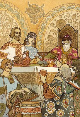 Illustration from Alexander Pushkin's epic fairy tale in verse, 'Ruslan and Lyudmila'.