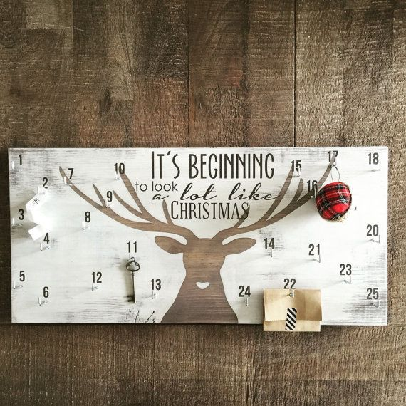 Advent calendar christmas countdown sign deer by FreestyleMom